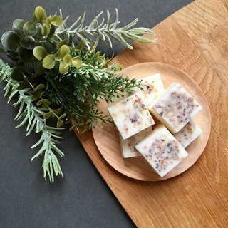6 Sweet Olive Melts | Scented Soy Wax Melts | Dried Flowers Infused Bricks
