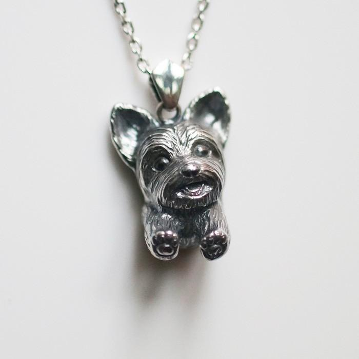 Yorkshire Terrier Dog Necklace