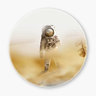 Snupped Ceramic Coaster - 陶瓷杯垫 - Playing Mars on the deser
