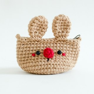 Coin purse - Crochet the Brown Rabbit.