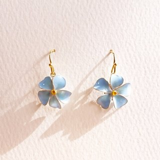 forget me not pierced earrings or clip-on earrings