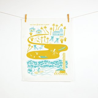 Forest & Waves桌巾/海滩生活 Beach Life Teatowel