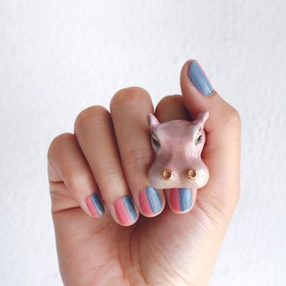 Happy Hippo Ring Ring, Safari, Hippopotamus, Cute ring