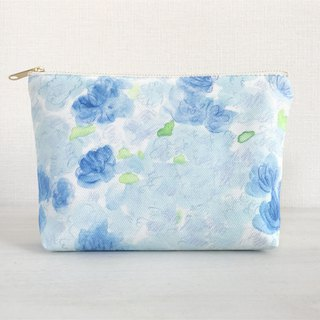 Joy Flower gusseted pouch Blue × light blue