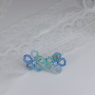 【Littlest Things】 Tatting a Little Thing 系列蓝绿小花耳环