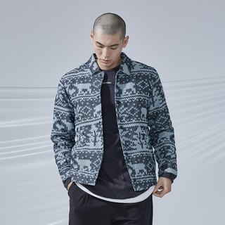 DYCTEAM - Woven Pattern Jacquard Coach Coat雪花缇花教练外套