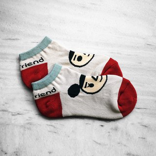 【BestFriend】BestFriend Logo Knit Socks / 品牌经典踝袜 / 桦树白
