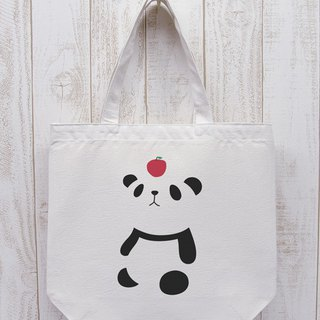 Knee Ten Zero Pan Odekake Tote Apple (Natural) / RIB 002