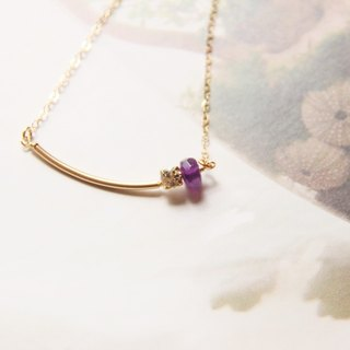 钻&紫水晶项链 / Swarovski Crystal Gold Plated & Amethyse