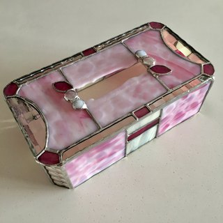 Tissue box case Strawberry glass Bay View