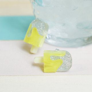 Lemon Soda Ice Earrings / Earrings