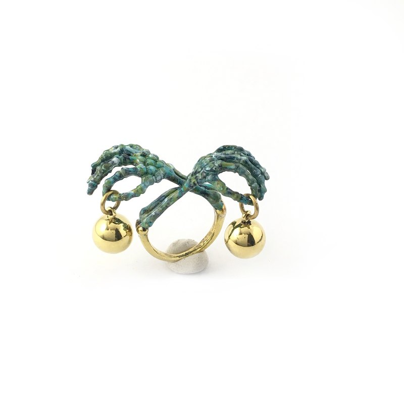 Zodiac Scaly bone ring is for Libra in Brass and Patina color ,Rocker jewelry ,Skull jewelry,Biker jewelry