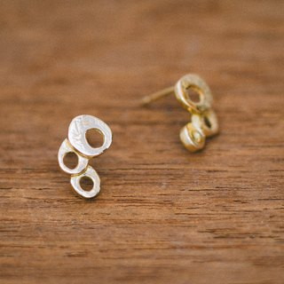 18K earrings - modern - small earrings - gold - gift for her - hypo-allergenic
