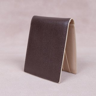 Money Clip / Card Case / Italy Cow Leather(Dark Brown1)