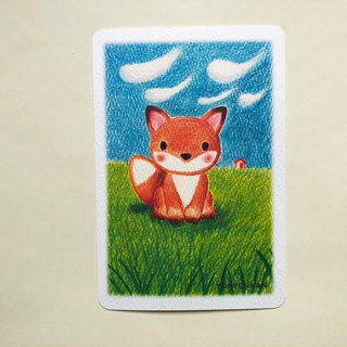 Kita fox postcard no.184