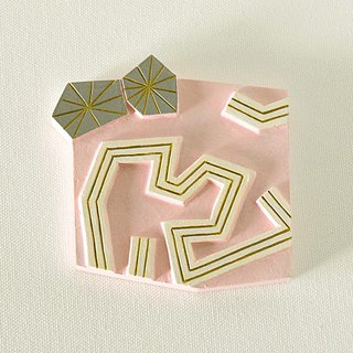 Artdeco Hand Mirror Mini (summer sun - pink)