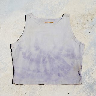 植物染紫草染瑜珈短版上衣OM上衣Yoga Top Natural dye