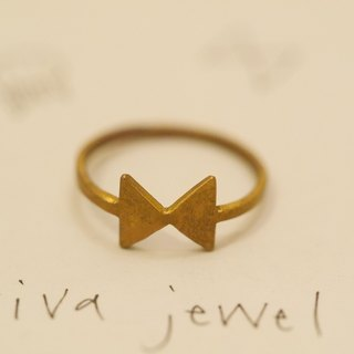 Butterfly tie A bow tie Ring material Brass