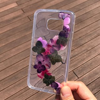 Samsung Galaxy S6 edge 手机壳 Dry Pressed Flowers Case 押花 干燥花 叶子 紫色压花 021