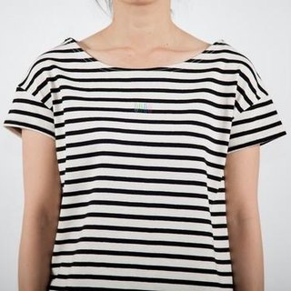 Original from the body. Cotton 100 Border Fabric Color Clip Women's T-shirt