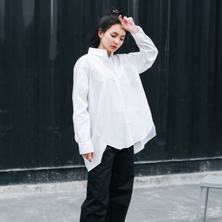 Oversized White Shirt - Twisted seam
