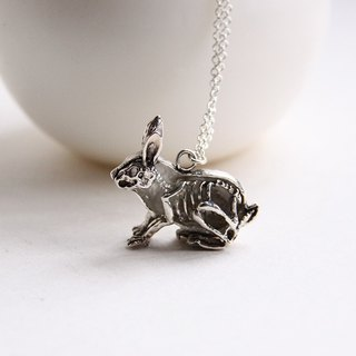 An Anatomy of a Rabbit Charm Necklace