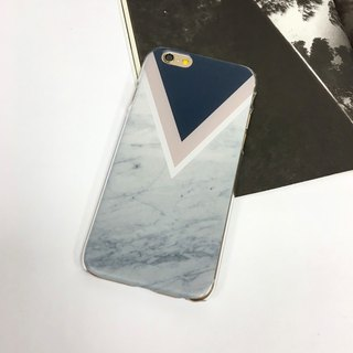 香港原创设计 粉红色与蓝色大理石几何图案 iPhone X,  iPhone 8,  iPhone 8 Plus,  iPhone 7, iPhone 7 Plus, iphone 6/6S , iphone 6/6S PLUS, Samsung Galaxy Note 7 透明手机壳