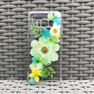 Samsung Galaxy S8 Plus 手机壳 Handmade Dry Pressed Flowers Case 押花 干燥花 压花 005