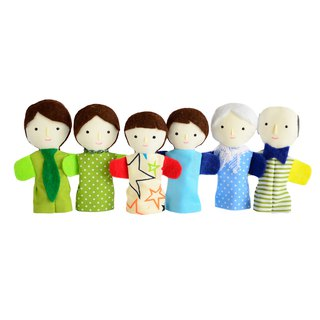 Families of finger puppets / Light skin color /  布娃娃 / Family of Dolls