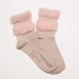 chic # flamingo's feather (baby pink) socks and shoes socks RORO SOCKS