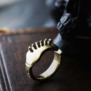 Guitar Ring Original design and made by Defy / Statement Ring / Golden Brass Jewelry.