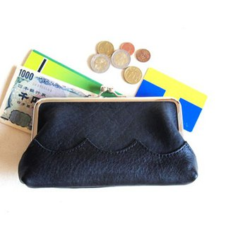 wave long wallet black wagakuti long wallet