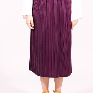 -Basic Pleated Skirt-