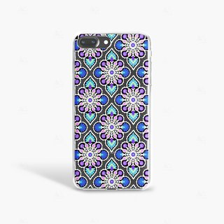 Moroccan Tile iPhone 7 Case Clear iPhone 8 Case iPhone 7 Plus Clear Case iPhone