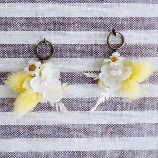 还是向往天堂 - 不凋干燥花耳环 Preserved & dried flower earring