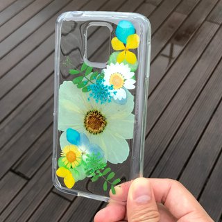 Samsung Galaxy S5 Plus 手机壳 Handmade Dry Pressed Flowers Case 押花 干燥花 压花 005