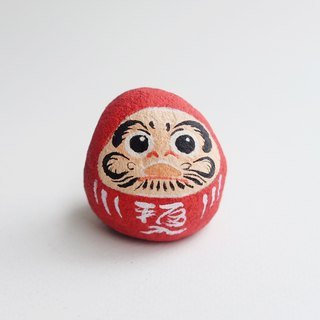 Daruma doll stone painting,original art.