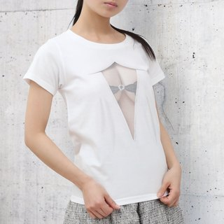 <Now on sale for a limited time! >  Mousou See-through T-shirt/ MESH WHITE/ WM size