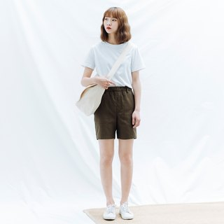 hao Olive Green Pocket Shorts 橄榄绿贴袋短裤