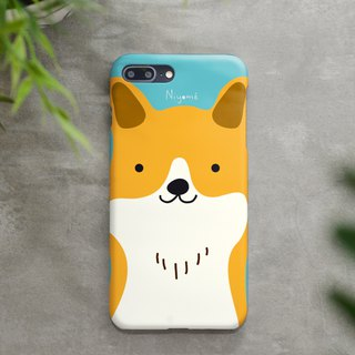 iphone case cute yellow smiley dog for iphone 6,7,8, iphone xs, iphone xs max