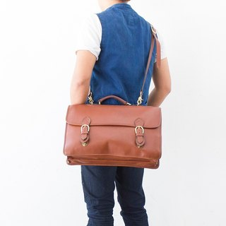 Made in USA Gabbriele 多脂牛皮公事包 Vintage Briefcase bag 香蕉猫。Banana Cats