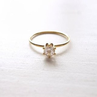 White Topaz Ring (b)
