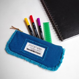 MOF Kurashiki canvas fringe pen case Rich blue