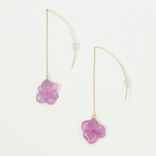 Hydrangea's American Earrings*Pink Purple*