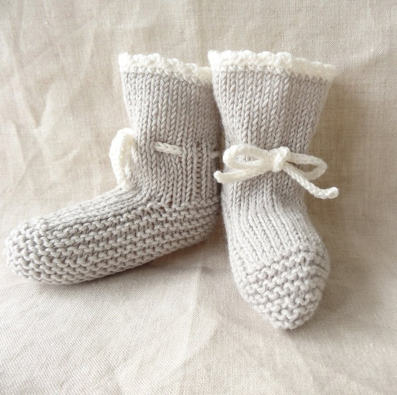 En'ami baby bootie wool × cotton 6M ~ 177