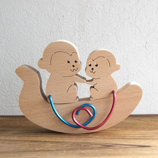 Educational Toys Wooden toys Monkey Gift ornament made in Japan