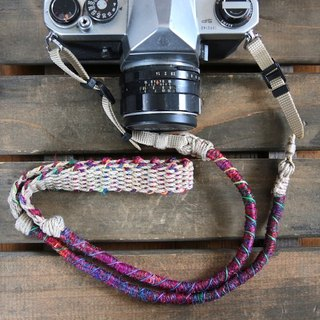 Crazy-color hemp camera strap / belt