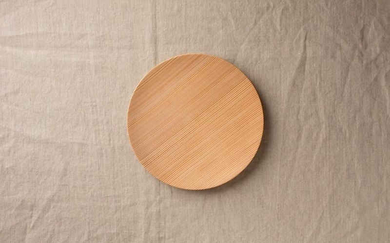 No.06 fir of wooden plate 18cm