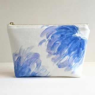 Blue garden gusseted pouch Flower pattern new color blue A