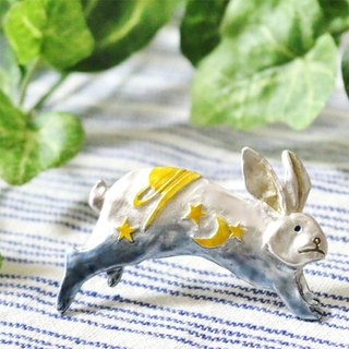 Sky Rabbit (Blue) Rice Rabbit (Blue) / Pin Brooch PB 054 BL
